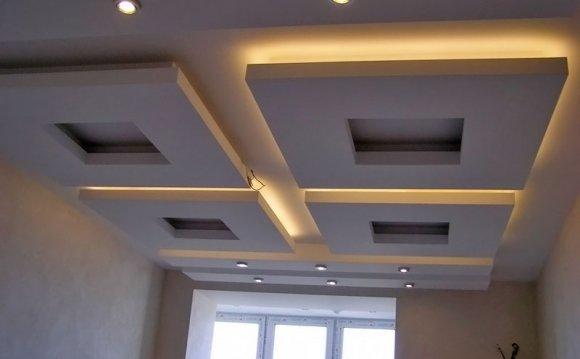 Гипсокартон потолок с