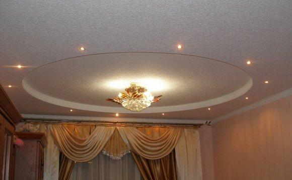 Монтаж двухуровневых потолков