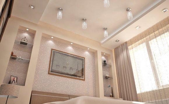 Интерьеры подвесные потолки