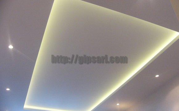 потолок из гипсокартона с